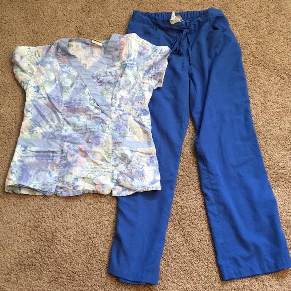 7286041dbf8 Grey's Anatomy Pants | Greys Anatomy Two Piece Scrub Set Small ...